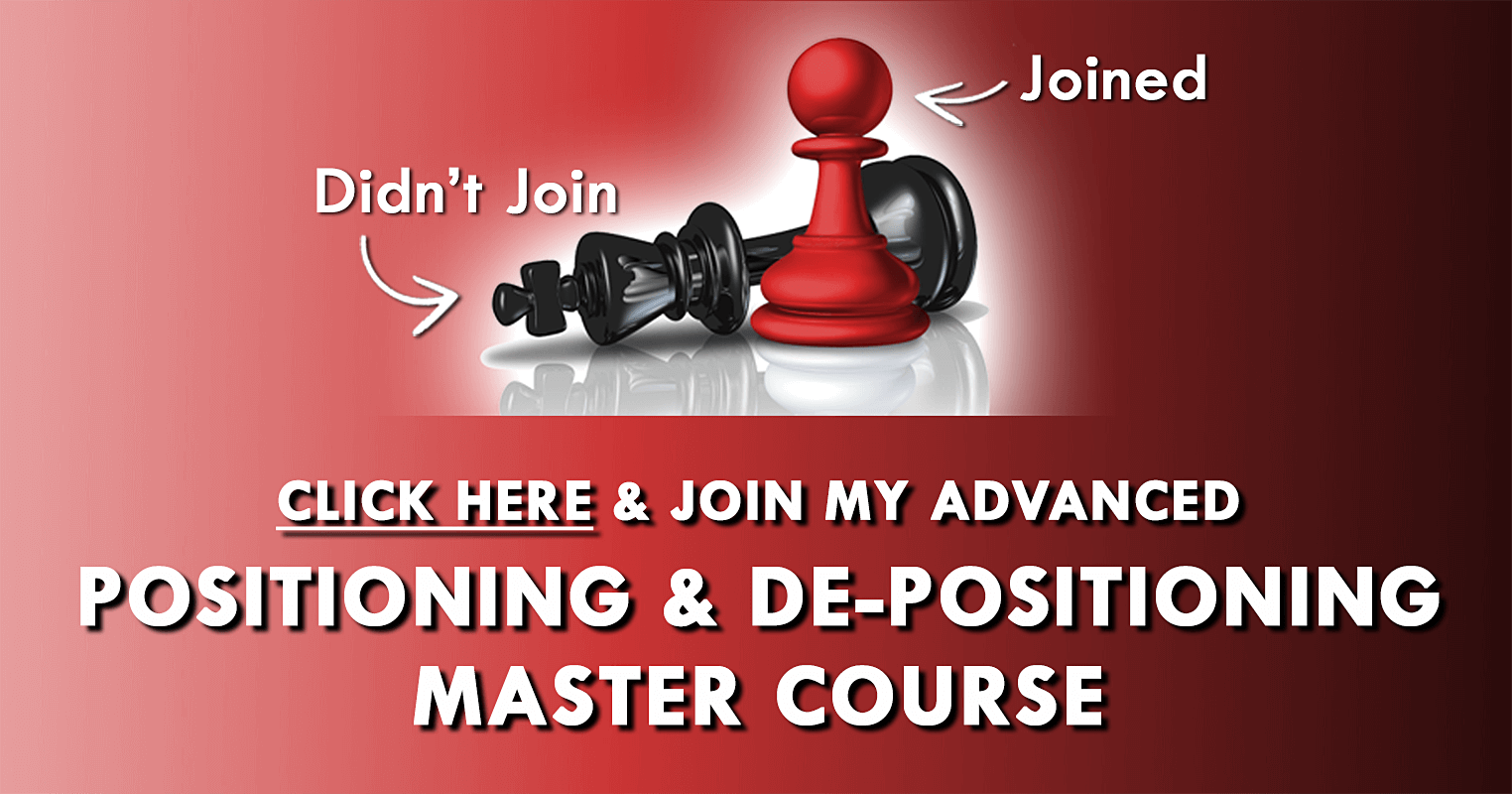 Join Marty Marion's Advanced Positioning Master Course
